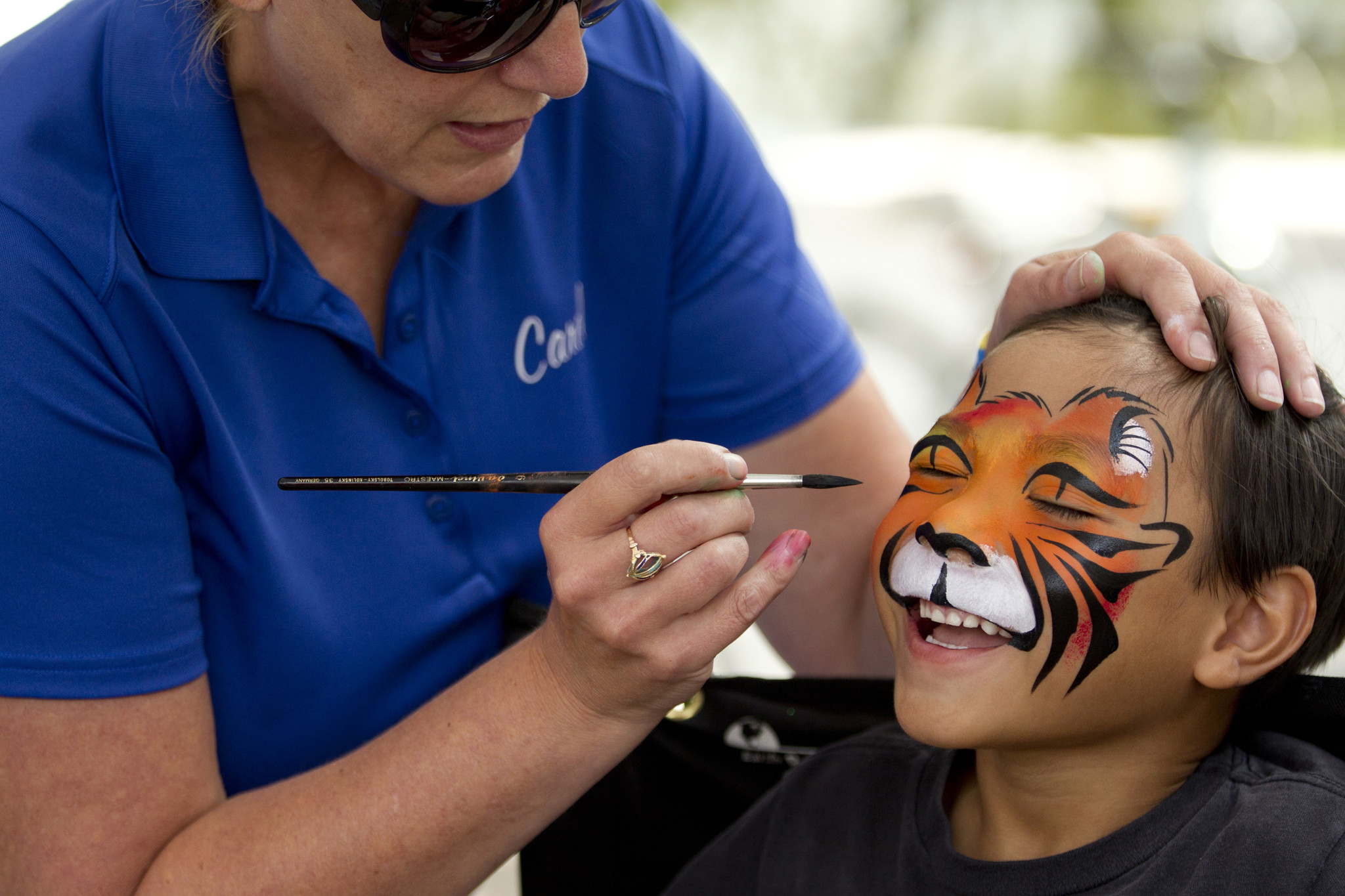 Tiger Face Painting Banner