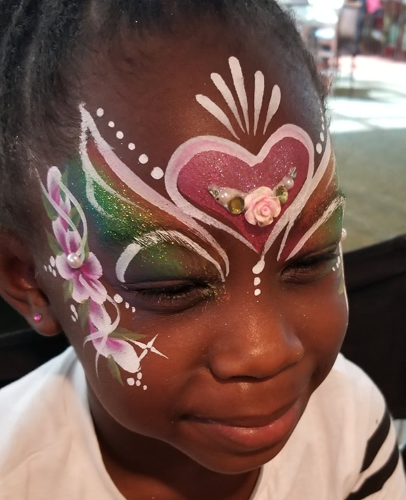 I painted this cutie pie today. After looking in the mirror, she squealed with…